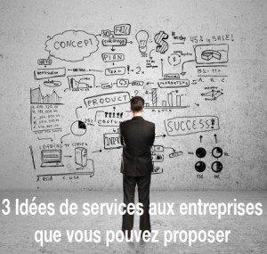 3 Idées de services aux entreprises que vous pouvez proposer
